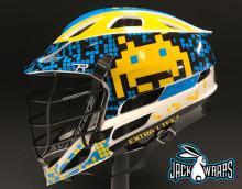 8 Bit Lacrosse Helmet Wrap