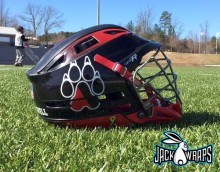 Northeastern Lacrosse Helmet Wrap