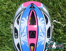 Beach Lacrosse Helmet Decal Wraps
