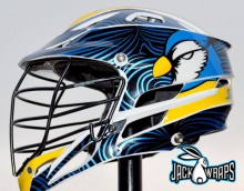Bluejays Chrome Helmet Wrapz