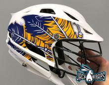 Feather Lacrosse Helmet Decals
