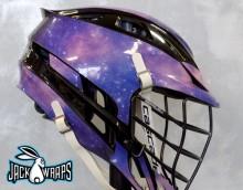 Galaxy Lacrosse Helmet Wraps