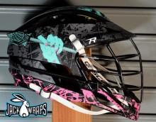 Halloween Lacrosse Helmet Wrap