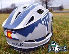 Littleton Thunder Lacrosse Helmet Wrap
