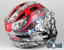 Metallic Lacrosse Helmet Decals