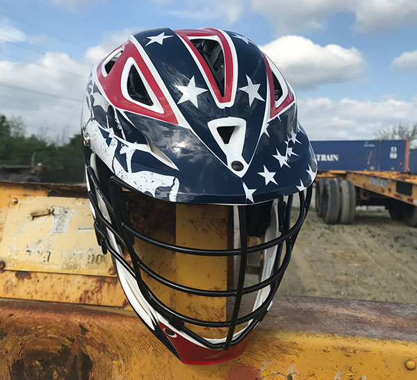 LOF Lacrosse Helmet Design Top