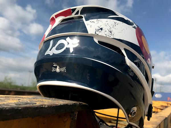 LOF Lacrosse Helmet Design Back