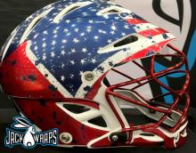 American Flag Lacrosse Wrap