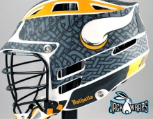 balhalla matte lacrosse decal wrap