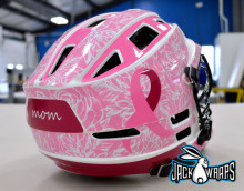 breast cancer awareness helmet decals