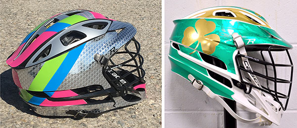 Chrome Color Lacrosse Helmet Wraps