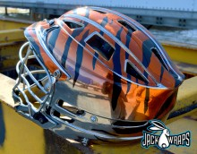 Chrome Lacrosse Helmet Wrap