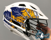 Feather Lacrosse Helmet Decals