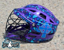 Holy Cross Lacrosse Helmet Wrap