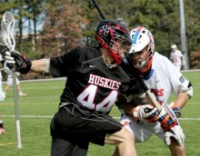 Northeastern University Huskies lacrosse helmet decals