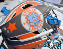 Lacrosse Helmet Decal Wrap