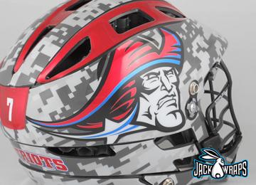 Metallic And Chrome Lacrosse Helmet Decals Are Trending