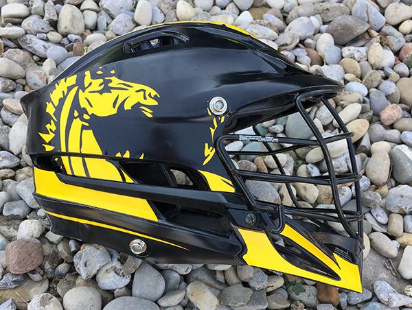 Mustangs Lacrosse Helmet Wraps