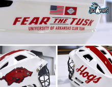 University of Arkansas Lacrosse Helmet Decals