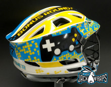 Video Game Lacrosse Helmet Wrap