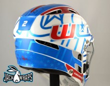 Wellington Lacrosse Helmet Decal Wrap