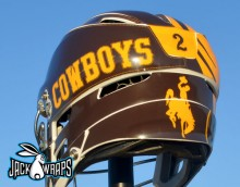 Wyoming Cowboys Lacrosse Decals